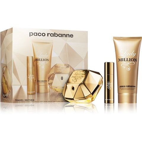 SET W PACO RABANNE LADY MILLION 3 PC (Free Shipping)