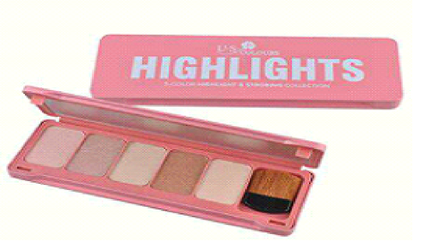 U.S. COLOURS COSMETIC HIGHLIGHT METAL CASE