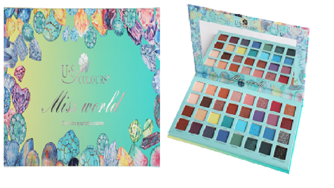U.S. COLOURS COSMETIC MISS WORLD 32 EYESHADOW PALETTE