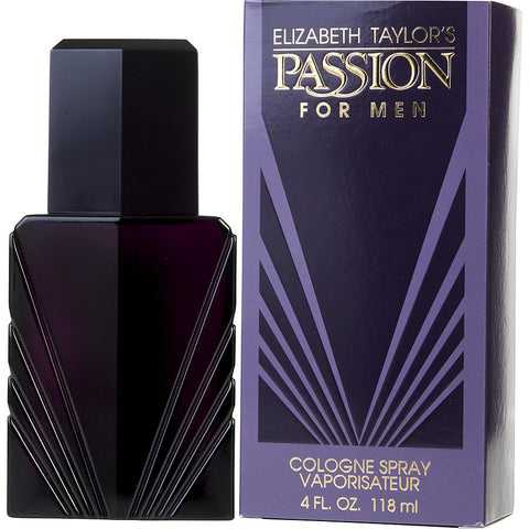 ELIZABETH TAYLOR'S PASSION FOR MEN 4 FL.OZ  COLOGNE SPRY(Free Shipping)