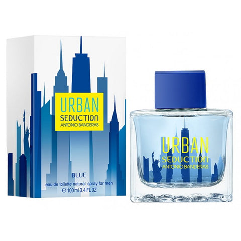 URBAN SEDUCTION ANTONIO BANDERAS BLUE 3.4 FL.OZ EDT SPRY (Free Shipping)
