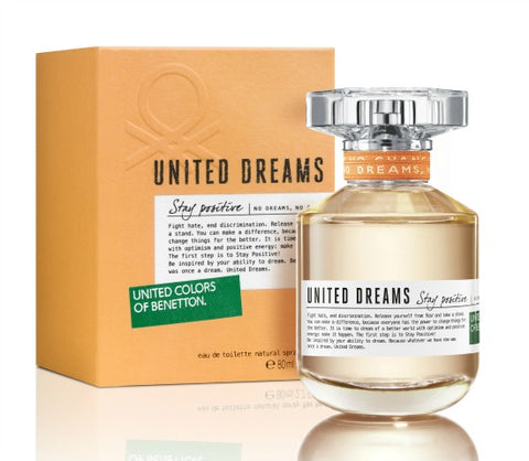 W BENETTON UNITED DREAMS STAY POSITIVE 2.7 FL. OZ EDT SPY