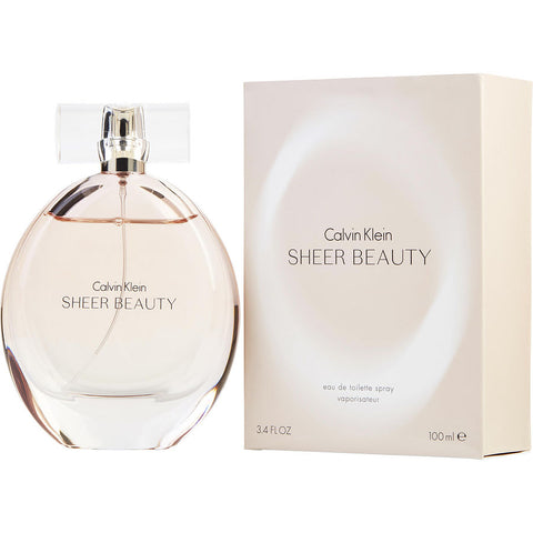 W CALVIN KLEIN SHEER BEAUTY 3.4 OZ EDT SPRY