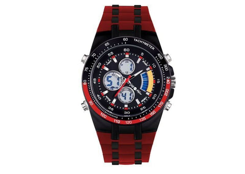 SCOTT MILANO HADES SILICONE STRAP WATCH FOR MEN