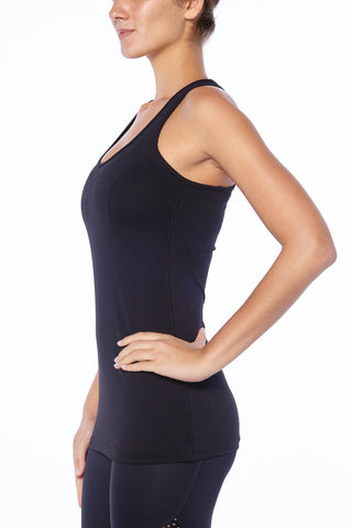 "alt=""Black Racer Back Tank Top Workout Gymwear Sports Women"""