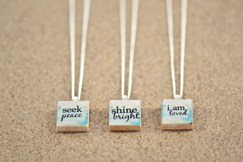 Inspirational Charm Pendants