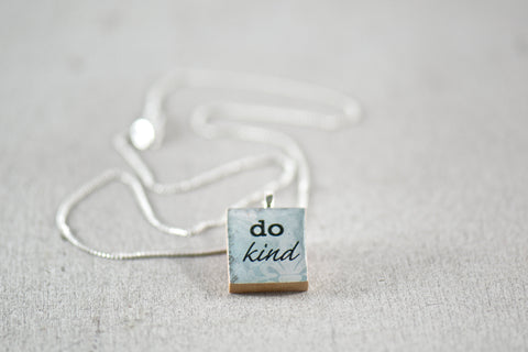 Do Kind Inspirational Charm Necklace