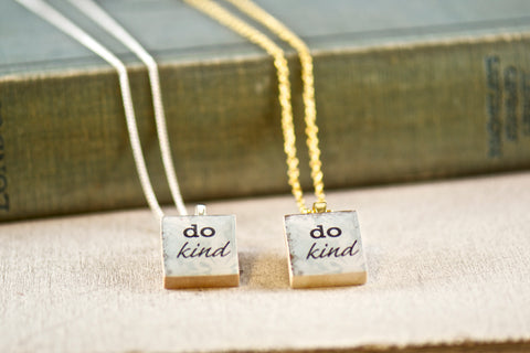 Do Kind Charm Necklaces