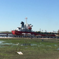 Ships on the Mississippi River in New Orleans