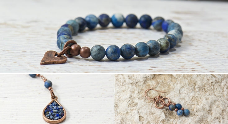 Blue Boho Jewelry | bohemian jewelry for the free spirited momma