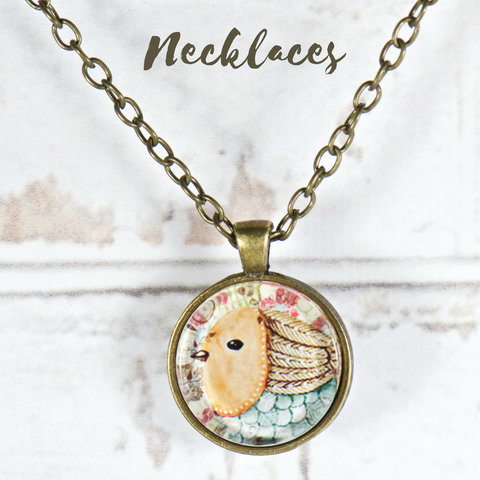 boho bird pendant necklace