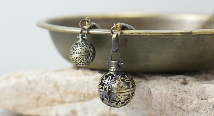 essential oil diffuser locket necklaces in our Golden Gypsy Jewelry Collection