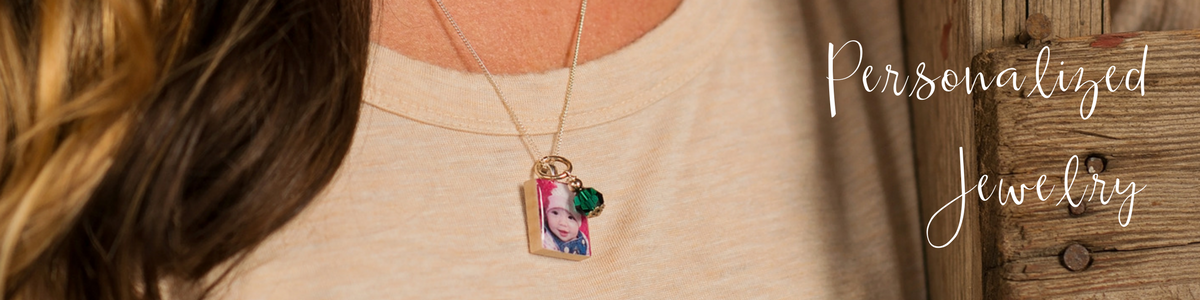personalized jewelry including photo pendants and bracelets