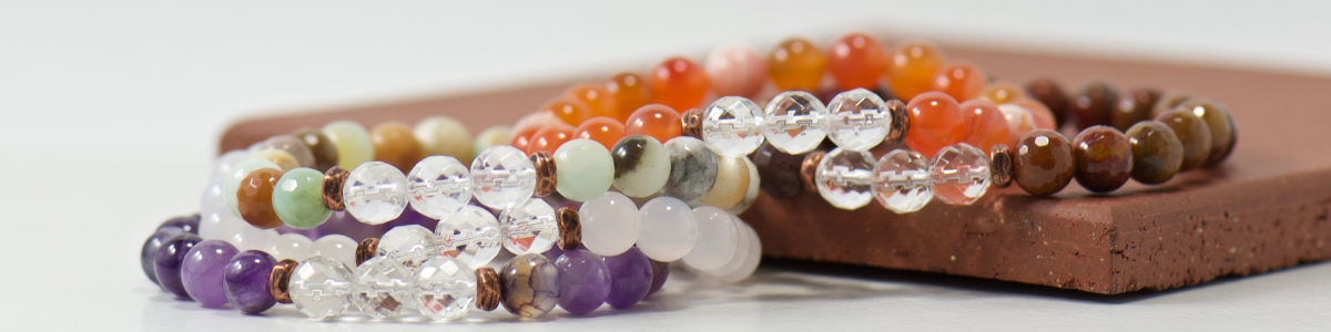 quartz crystal gemstones join meaningful stones for a beautiful bracelet stack