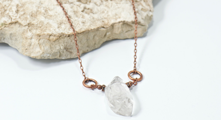 rock crystal pendant necklace | bohemian style jewelry for the free spirited momma