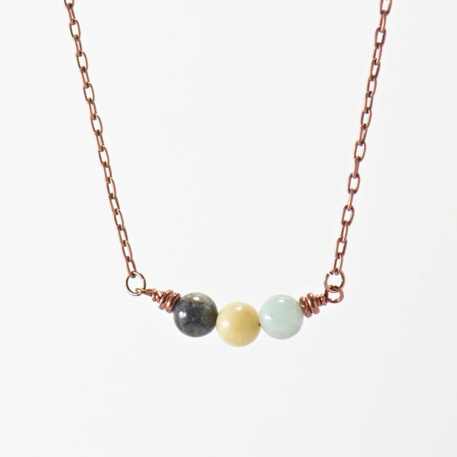 Simple Intentions Soothing | Amazonite Gemstone Necklace