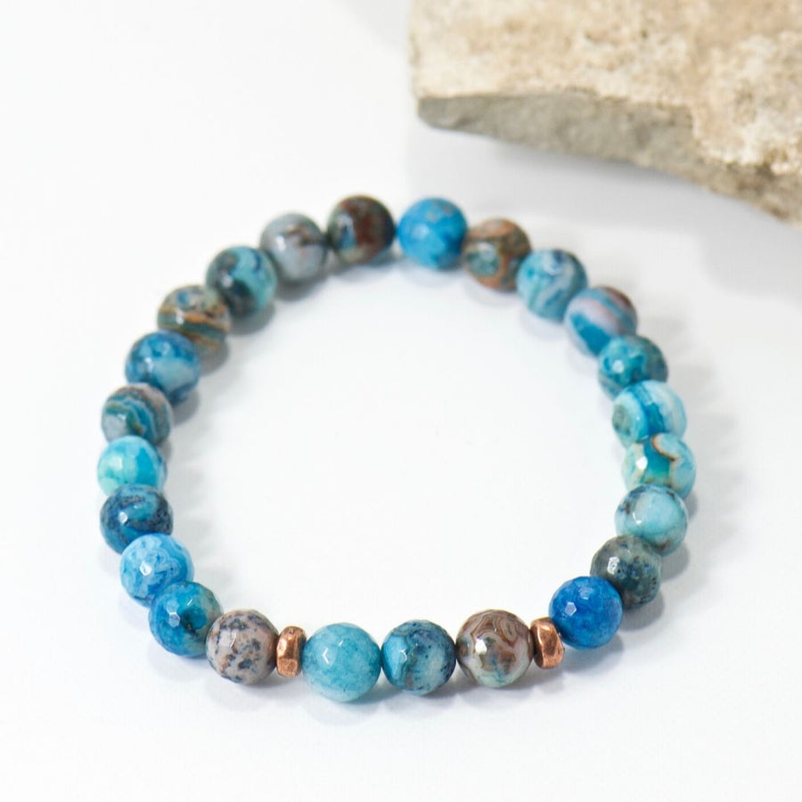 Simple Intentions Calming | Blue Agate Bracelet