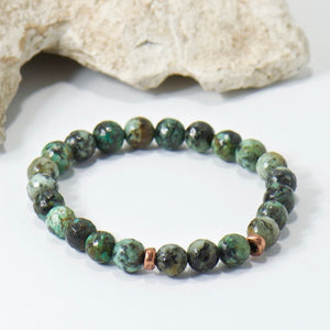 Simple Intentions Growth | African Turquoise Gemstone Bracelet