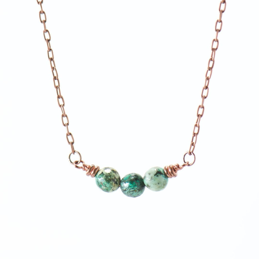 Simple Intentions Growth | African Turquoise Gemstone Necklace