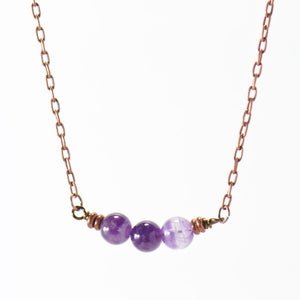 Simple Intentions Protective | Amethyst Gemstone Necklace