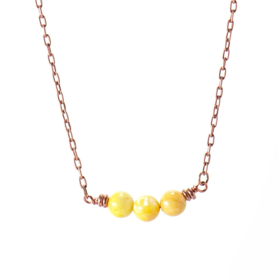 Simple Intentions Inspiring | Saffron Agate Gemstone Necklace