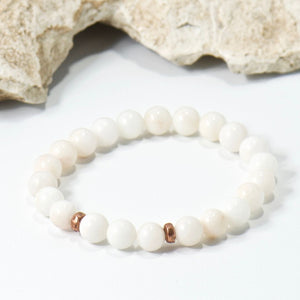 Simple Intentions Mentalist | White Agate Gemstone Bracelet