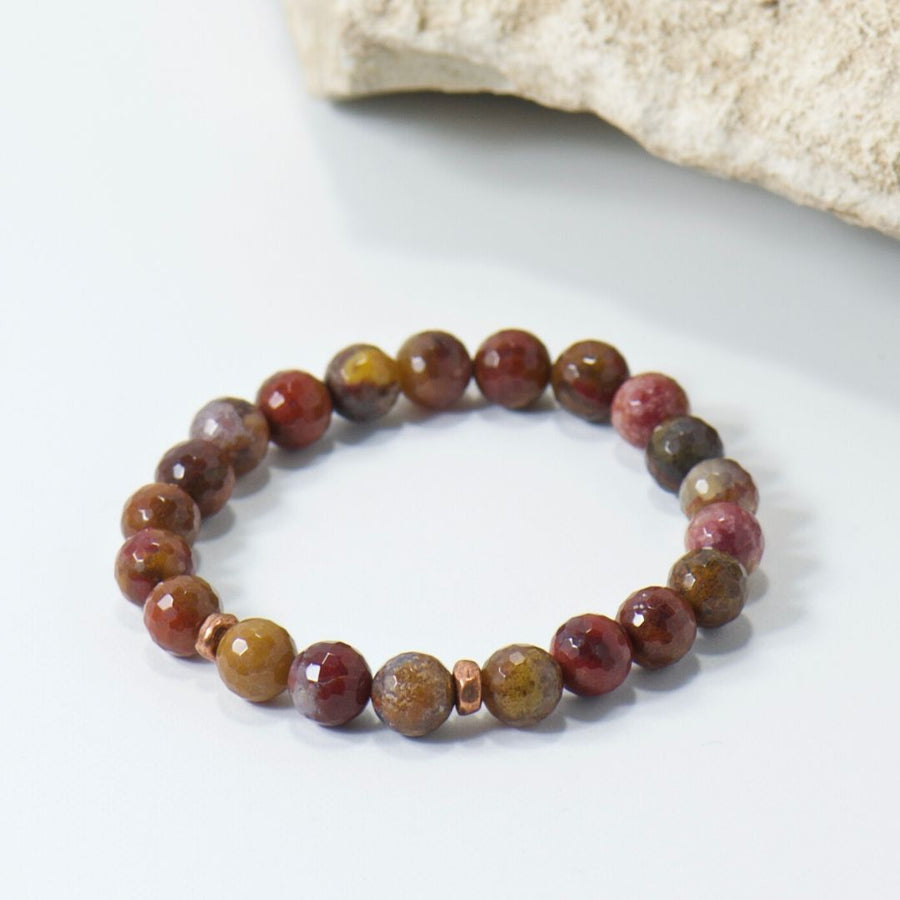Simple Intentions Strength | Agua Nueva Agate Gemstone Bracelet