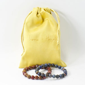 Simple Intentions Patient | Wood Opalite Gemstone Bracelet