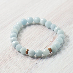 Simple Intentions Mindfulness | Aquamarine Agate Bracelet