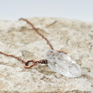 Big Basin Rock Crystal Gemstone Necklace - Bohemian Chic Jewelry