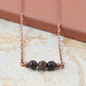 Simple Intentions Bodyguard | Black Obsidian Gemstone Necklace