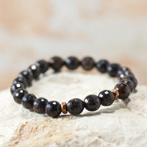 Simple Intentions Bodyguard | Black Obsidian Gemstone Bracelet