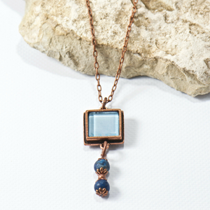 Willow Blue Agate Necklace