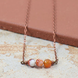 Simple Intentions Healing | Botswana Agate Gemstone Necklace