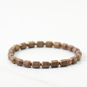 LIMITED | Chocolate Shimmer Drum Bracelet