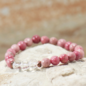 Quartz Crystal | Rhodonite Bracelet