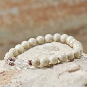 Quartz Crystal | Natural Riverstone Bracelet