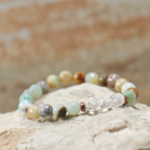 Quartz Crystal | Amazonite Bracelet
