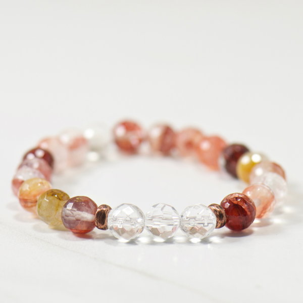 Quartz Crystal | Blood Quartz Bracelet
