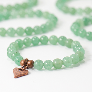 Customer Appreciation | Rustic Heart Green Aventurine Gemstone Bracelet