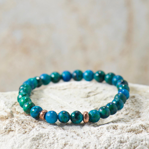 LIMITED | Green + Blue Beaded Bracelet