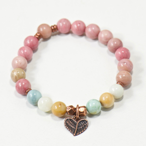 Heart Wings Gemstone Bracelet