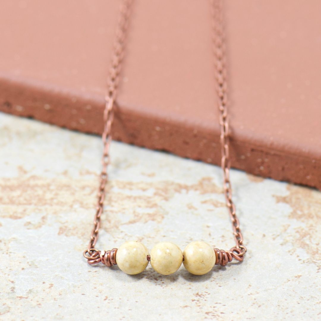Simple Intentions Natural Flow | Light Brown Riverstone Gemstone Necklace