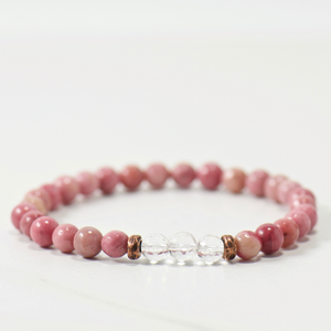 MINI Quartz Crystal | Rose Rhodonite Bracelet