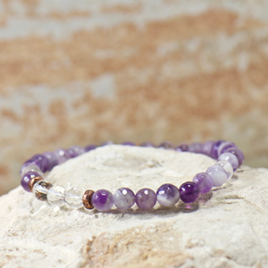 MINI Quartz Crystal | Purple Amethyst Bracelet