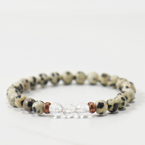 MINI Quartz Crystal | Dalmation Jasper Bracelet