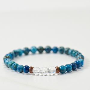MINI Quartz Crystal | Blue Agate Bracelet