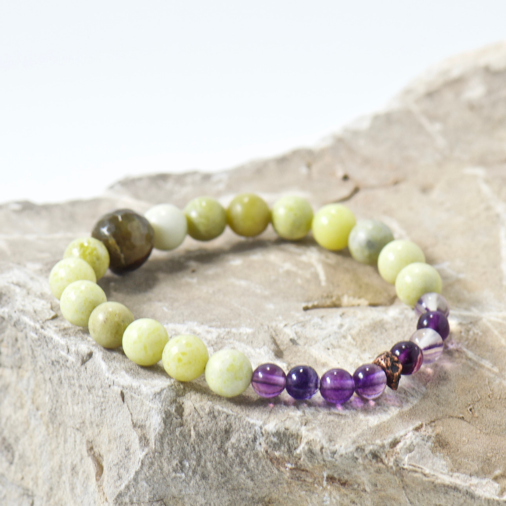 Nugget Flowing Springs Gemstone Bracelet - Bohemian Jewelry