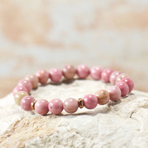 Simple Intentions Balancer | Rhodonite Gemstone Bracelet