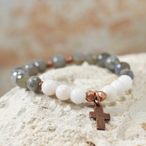 Rustic Cross Bracelet